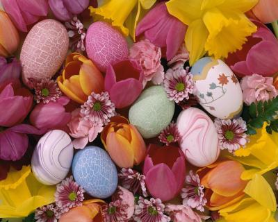 Easter Flowers Screensavers