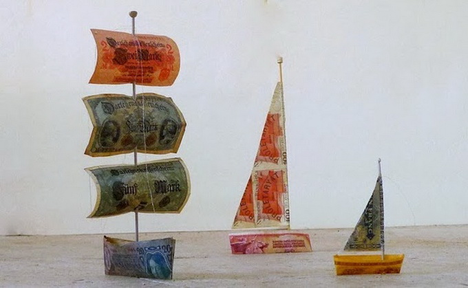 Money Making Quotes Wallpapers Sail Away Paper Money Artwork By Susan Stockwell
