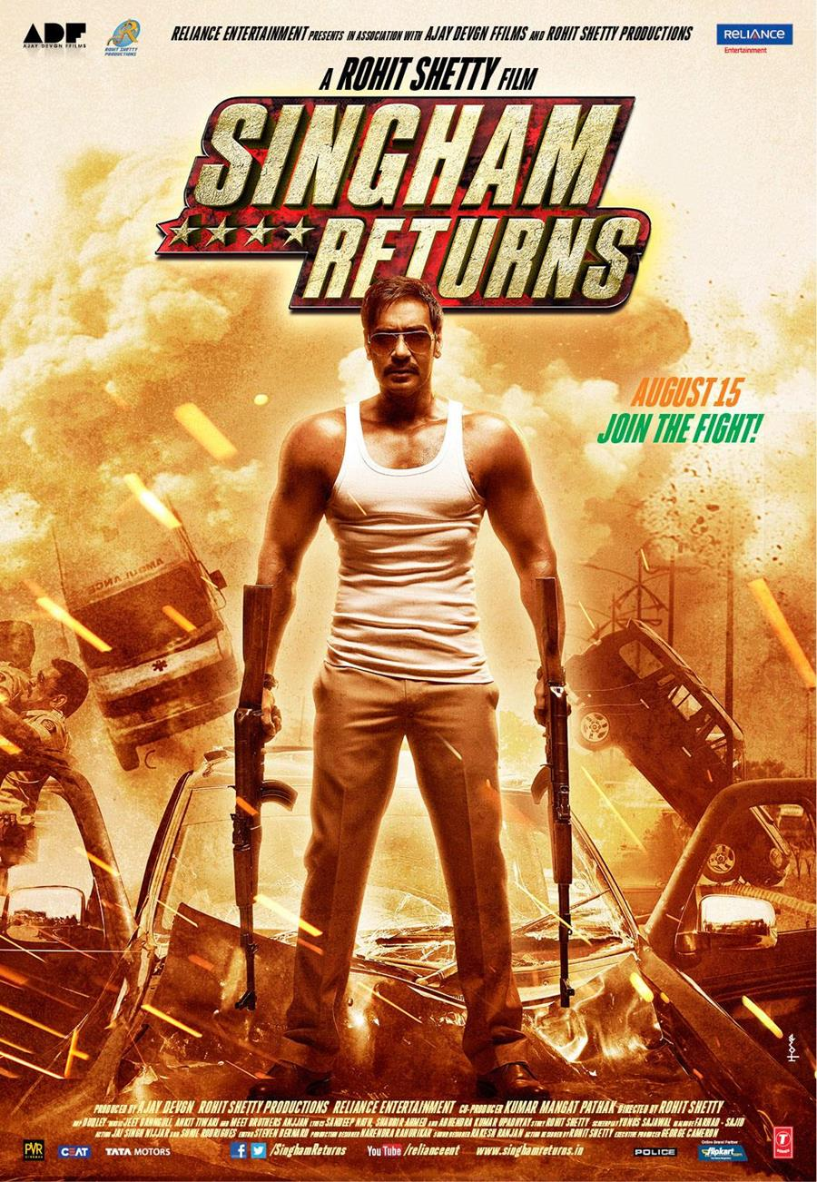 Hindi Movie Wallpapers With Quotes Singham Returns Movie Posters Xcitefun Net