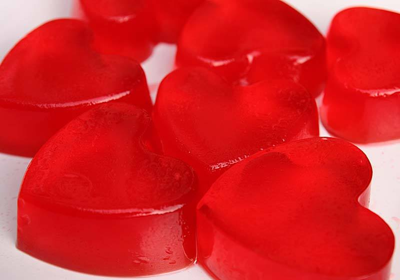 Cute Red Heart Wallpapers Strawberry Jelly Cakes For Cute Child Xcitefun Net