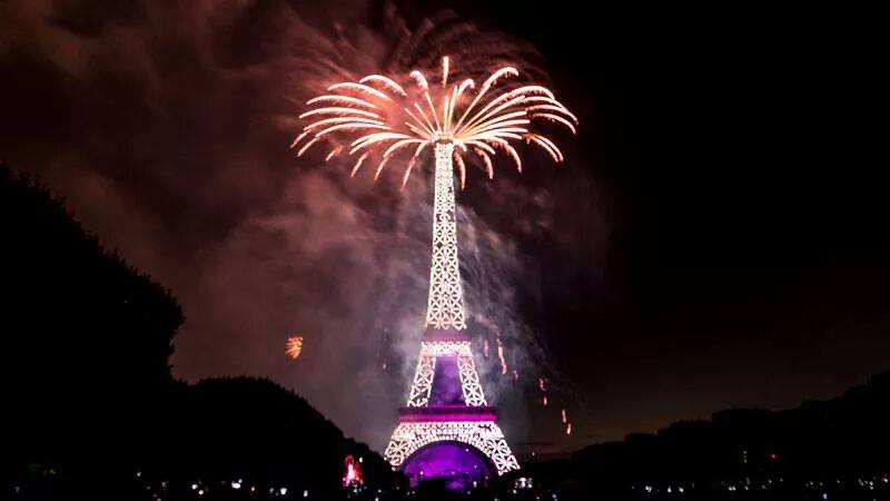 Cute Lovely Wallpapers With Quotes Eiffel Tower Fire Works New Year Celebration Xcitefun Net