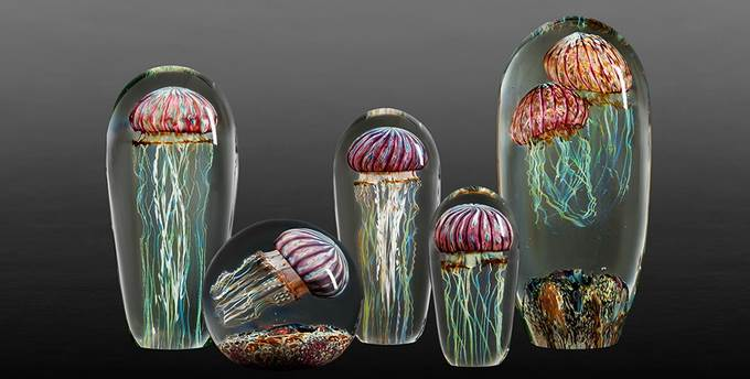 Amazing Computer Wallpapers Quotes Frozen Jellyfish Sculptures In Glass By Rick Satava