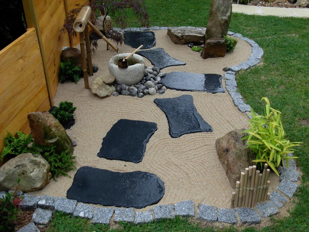Petit Jardin Zen Japonais   Petit Jardin Japonais Avec Bassin Plan ...