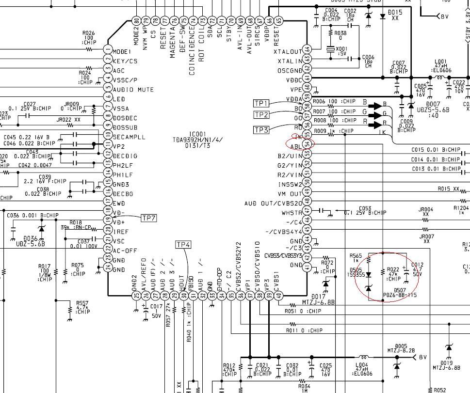 22 pin sony bedradings schema