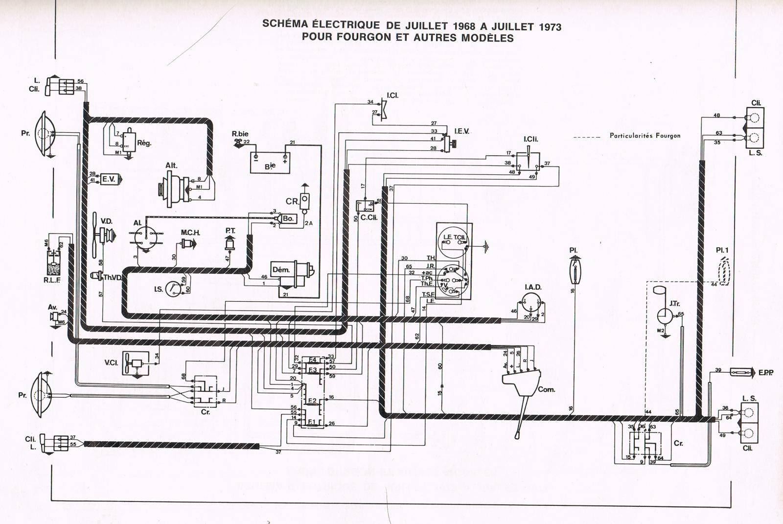 1975 bronco schema cablage