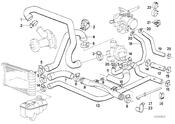 bmw serie 3 cooling system diagram