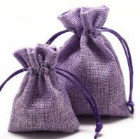 small burlap bags, jute drawstring wedding bags of item ...
