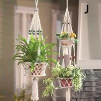 Vintage Macrame Plant Hanger Garden Flower Pot Holder ...