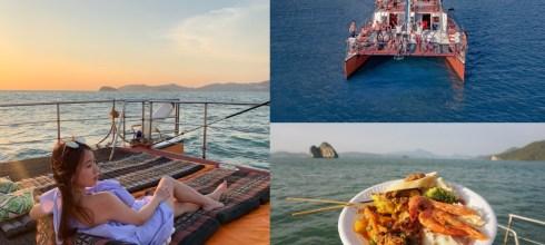 蘭卡威行程 Langkawi遊艇之旅,海上看夕陽、吃BBQ晚餐,Chill到不行的出海行程