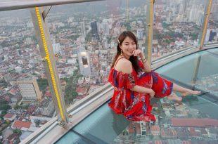 檳城景點|The Top彩虹天空步道,檳城光大大廈68樓,高空俯瞰的檳城夕陽魅力。