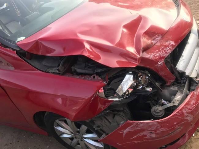 الفنانة رنا سماحة تتعرض لحادث سيارة