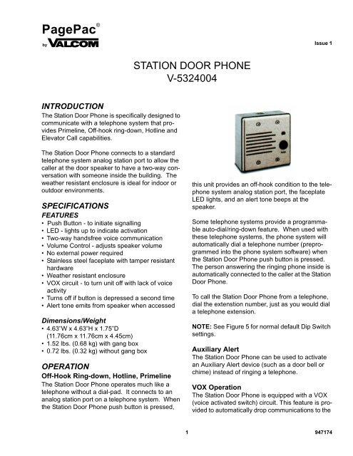 PHONE SYSTEM PUSH Figure