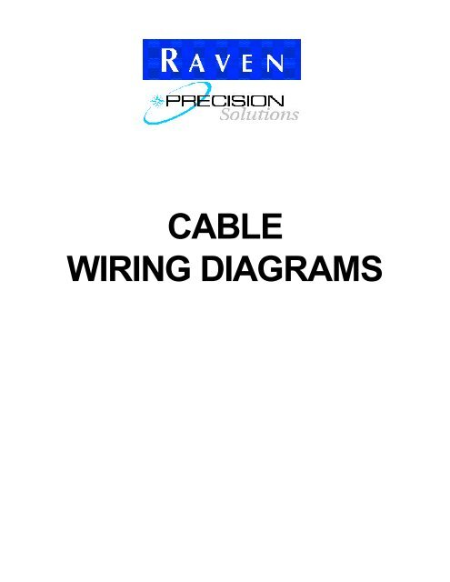 CABLE WIRING DIAGRAMS - Raven