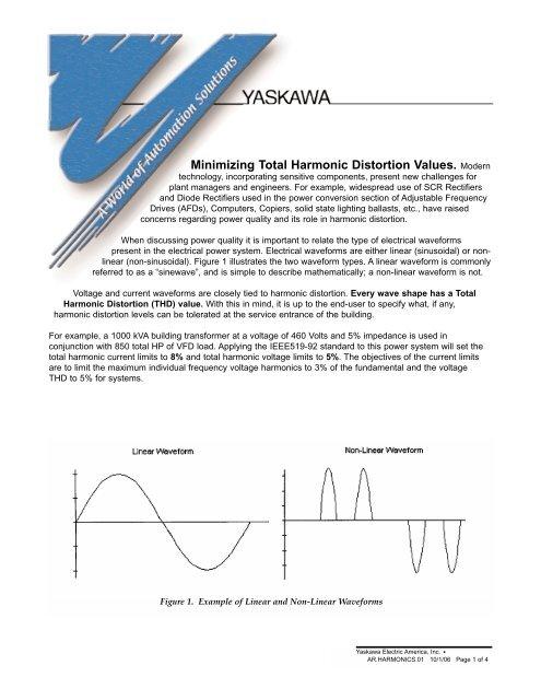 Minimizing Total Harmonic Distortion Values Modern - Yaskawa