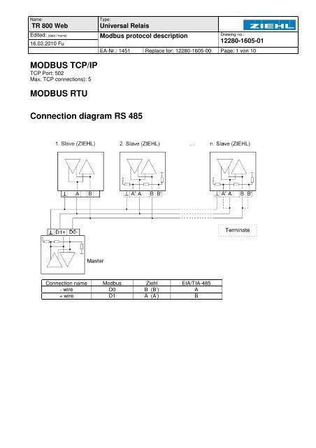 Wiring Modbus Connection Diagram Wiring Diagram