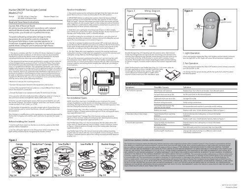 wiring diagram fan hunter model 25530