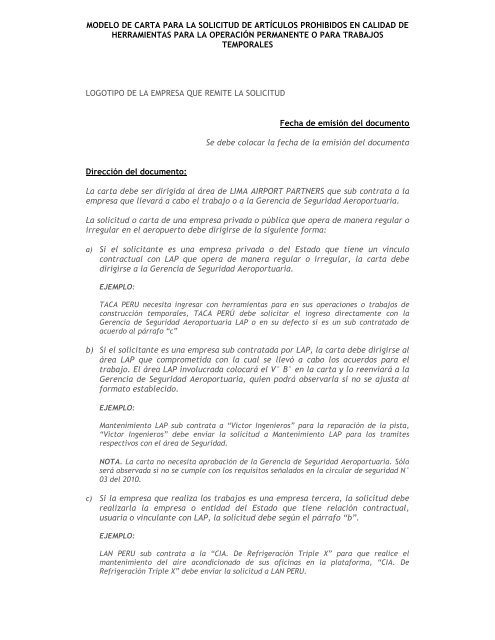 MODELO DE CARTA SOLICITUD DE INGRESO ARTICULOS