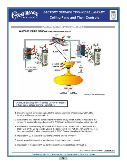 Inteli\u2022touch dual w-32 installation - Casablanca Fan Repair