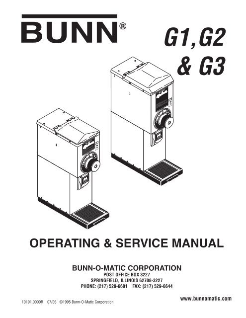g1,g2  g3 operating  service manual - Parts Town