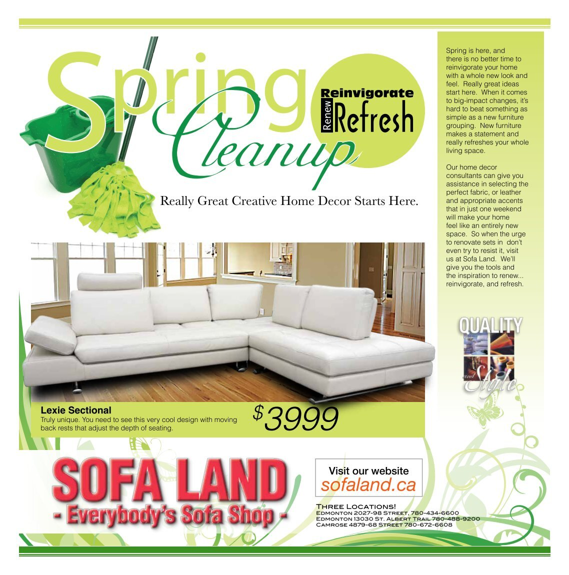 Sofaland Sectional 3 Free Magazines From Sofaland Ca