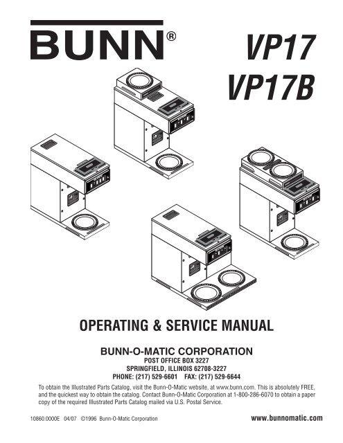 Bunn Parts Catalog Wiring Diagram Wiring Schematic Diagram
