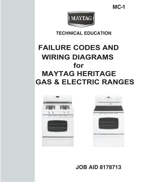 Wiring diagrams for maytag heritage gas  electric - Whirlpool
