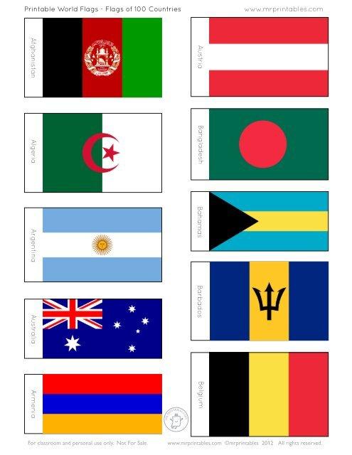 Printable World Flags - Mr Printables