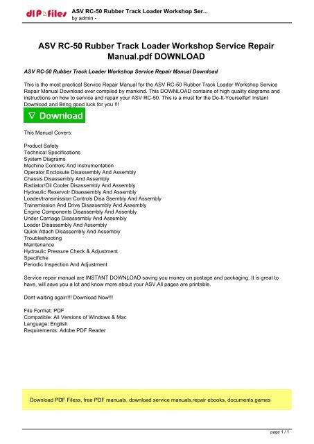 Asv Hd4520 Wiring Diagram Wiring Diagram