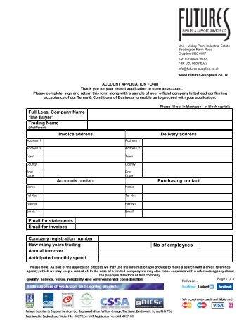 Register Plumbing Supplies Online Plumbcenter Download Bunzl Irish Merchants Credit Account Application Form