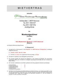 Mietvertrag Muster - TFC-24