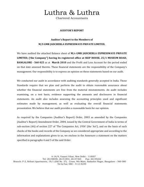 GMR Jadcherla Expressways Private Limited