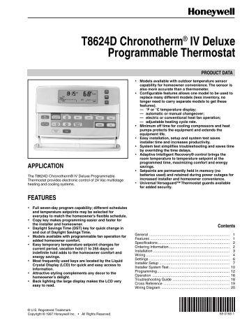 Honeywell Thermostat Wiring Diagram Rthl on
