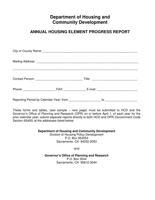 Instructions for preparing the annual report sample form