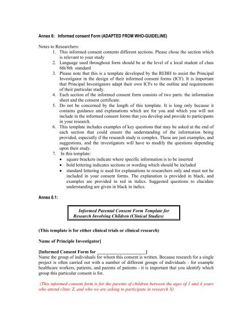 Informed Consent Form Template