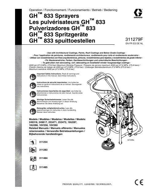311279F - GH833 Sprayers Operation Manual (English - Graco Inc