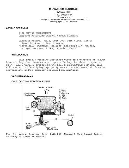Mitsubishi Vacuum Diagram Online Wiring Diagram