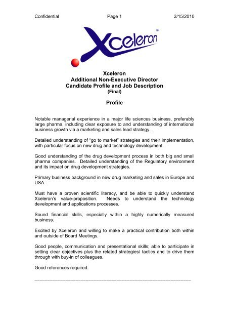 CEO Candidate Profile and Job Description - Z/Yen