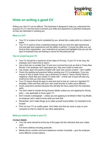 good cv hints how to write a successful cv university of kent hints on interview questions