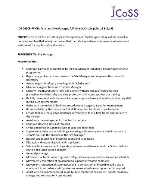 JOB DESCRIPTION Administrative Assistant - Jewish Community