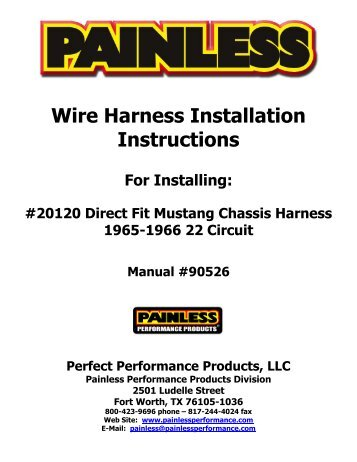 Painless Performance Wiring Diagram | mwb-online.co on