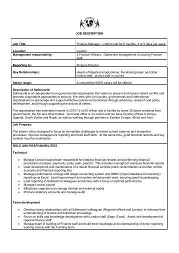 financial manager job description dzeo - financial manager job description