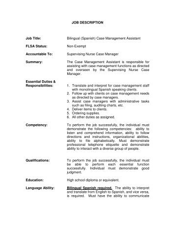 case management duties - Vatozatozdevelopment - case management job description
