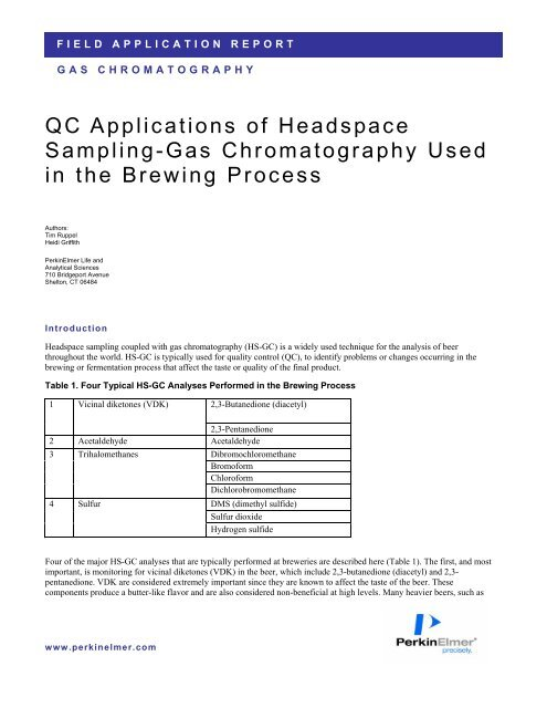 QC Applications of Headspace Sampling-Gas Chromatography