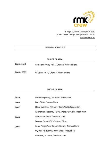 Resume Wizard - RMK Crew