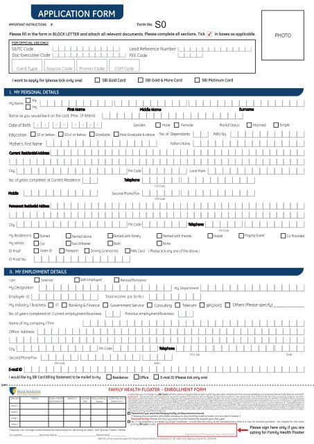 SBI Application Form_A4size_simply_04-06-11 - SBI Credit Card India