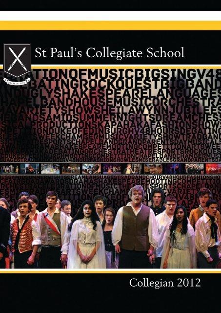 Collegian 2012 Yearbook (sample) - St Paul\u0027s Collegiate School