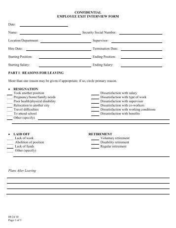 employee exit interview form - Onwebioinnovate - exit interview form