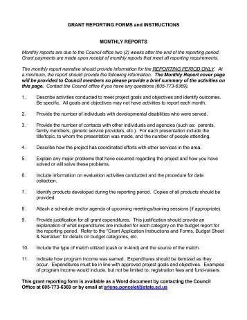Grant Report Form cvfreepro