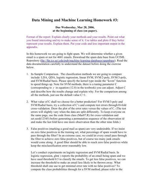 Data Analysis Homework #2 Categorical Data, Permutation Test