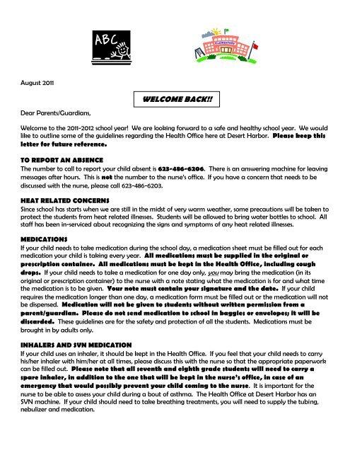 nurse\u0027s letter to parents
